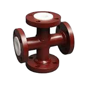 PTFE-FEP-PFA-Lined-Pipe-Cross-For-Corrosive-Application