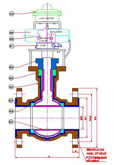CROSS-SECTION-ACTAUTED-LINED-BALL-VALVE