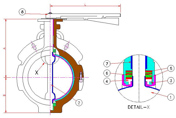 CROSS-SECTION-Lined-Butter-Fly-Valve